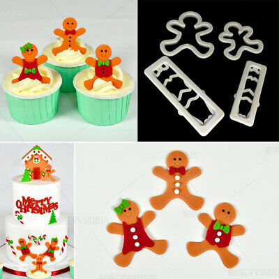 £2.49 • Buy Gingerbread Man Cutter Cookie Mould Fondant Cake Decorating Paste Chocolate Mold