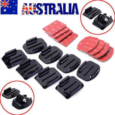 AU15.96 • Buy 8/16PC Flat Curved Adhesive Mount Helmet Accessories For Gopro Hero7+3 4 5 6 H9R