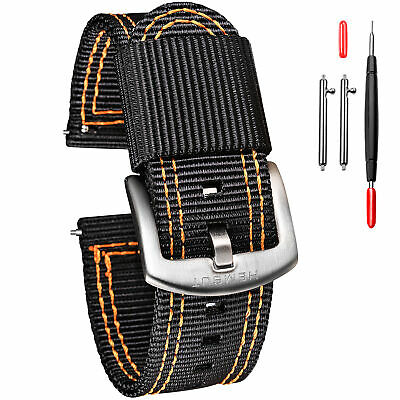$13.99 • Buy Two-Piece Military Style Watch Straps Bands For Men Quick Release Nylon Wrap