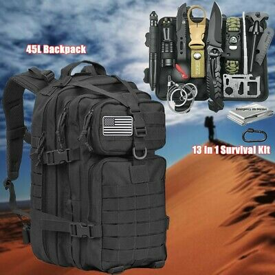 $67.94 • Buy Survival Outdoor Kits Military Tactical Backpack EDC Emergency Gear Camping Tool
