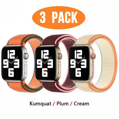 AU14.99 • Buy 3-PACK Nylon Sport Band Strap Fits Apple Watch Series 6 5 4 2 3 1 IWatch 38MM