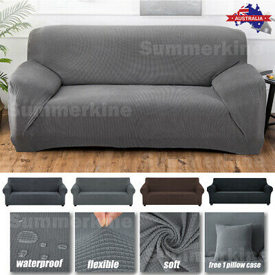 AU29.99 • Buy Waterproof Stretch Sofa Cover Lounge Protector Slipcovers 1/2/3/4 Seater Covers