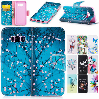AU12.36 • Buy For Samsung Galaxy S7 Edge S8 Plus Flip Leather Wallet Magnetic Case Phone Cover