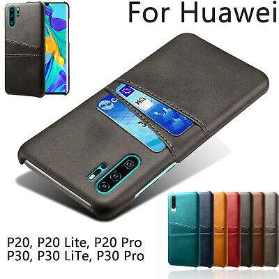 £1.95 • Buy Case For Huawei P30 Pro Lite P20 Lite Slim Leather Card Holders Back Phone Cover