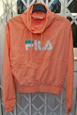 £12.99 • Buy Fila Coral Peach Over Head Jacket Size Xs 8 Stunning On Gorgeous Colour