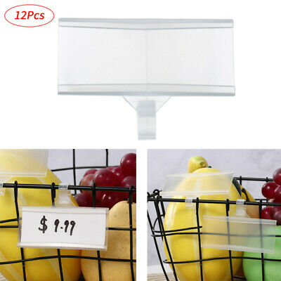 £11.27 • Buy New 12Pcs Sign Label Holder Ticket Card Food Display Stand Tag W/Tight Snap Lock