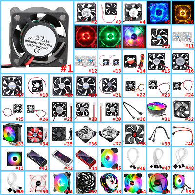 £4.59 • Buy 56 Varieties Mini USB Cooler Silent Cooling Fan For PC Computer Case CPU Cooling