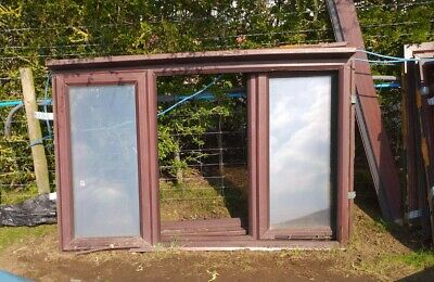 £50 • Buy UPVc Window Frames - Most With Double Glazed Units, Various Sizes, Brown £50