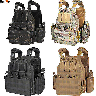 $123.49 • Buy Tactical Vest Military MOLLE Shield Plate Carrier Combat Padded Body Gear Armor
