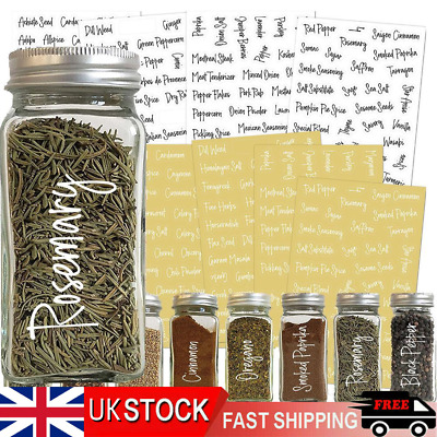 £5.58 • Buy 8sheets 274pcs Spice Labels Stickers Herb Storage Jar Labels Stickers Decals-UK