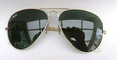 £45.99 • Buy  Ray Ban Aviator Sunglasses Gold Wire Frame Green Lens  RB3025 62/14 140