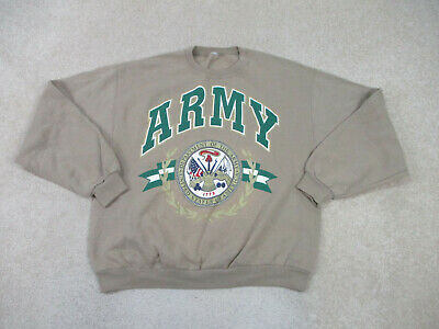 $19.90 • Buy VINTAGE Army Sweater Adult Extra Large Brown Military Pullover Crewneck Mens *