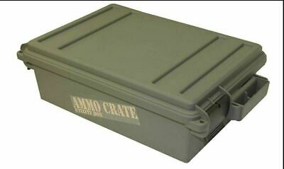$27.50 • Buy Military Ammo Crate Stackable Utility Box Heavy Duty Caliber Bulk Storage Can