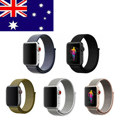 AU3.77 • Buy For Apple Watch Series 1 2 3 IWatch Sports Loop Band Nylon Replacement Strap AU