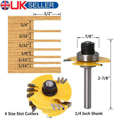 £22.47 • Buy Slot Cutter Router Bit 1/2'' 1/4'' Shank Jointing Slotting Router Bit Woodwork