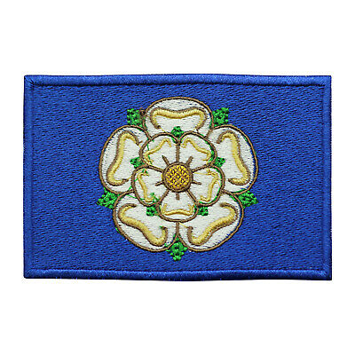 £1.99 • Buy Yorkshire County Flag Patch Iron On Patch Sew On Badge Embroidered Patch