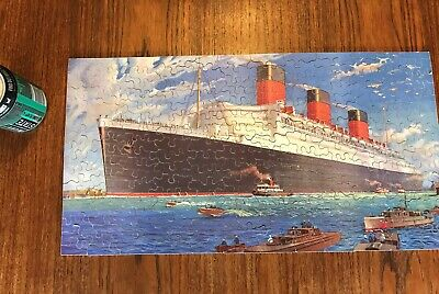 £14.95 • Buy Antique Wooden Jigsaw Puzzle Cunard Rms Queen Mary - Complete