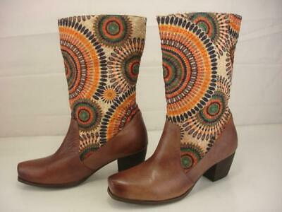 £21.23 • Buy Women's 7.5 8 38 Spring Step Peru Brown Leather Embroidered Cowboy Boots Western