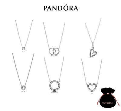 AU25.69 • Buy New Authentic Pandora Silver Sterling Necklace All Styles ALE925 With Gift Pouch