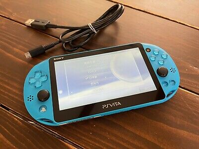 £113.57 • Buy Sony PS Vita Aqua Blue PCH 2000 Console USED USB Charger  PlayStation