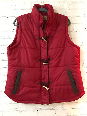 $39.98 • Buy King Ranch Mens Maroon Solid Sleeveless Polyester Full Zip Puffer Vest Size XL