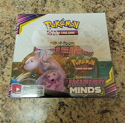 $350 • Buy Pokemon TCG Sun & Moon Unified Minds Booster Box Factory Sealed