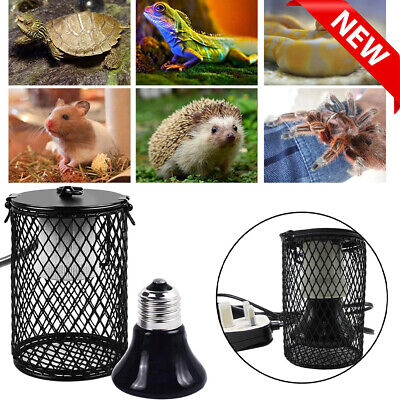 £18.57 • Buy Reptile Ceramic Heating Light Bulb Lamp Heater Holder With Safety Anti-hot Cage