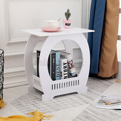 £19.99 • Buy Side Table Small Coffee End Table White Nightstand Storage Organizer Bedroom UK