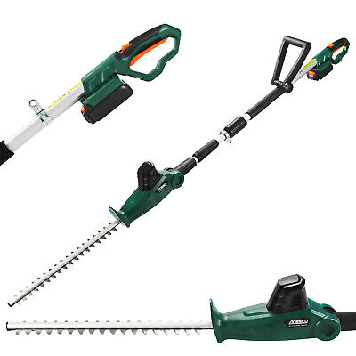 £79.50 • Buy Cordless Hedge Trimmer Long Reach Telescopic Pole Tree Branches Cutter 2.0Ah 20V
