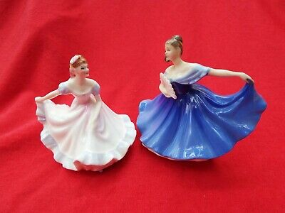 £11.99 • Buy ROYAL DOULTON Elaine HN3214 And Ninette HN3215 Retired Two Miniature Figurines