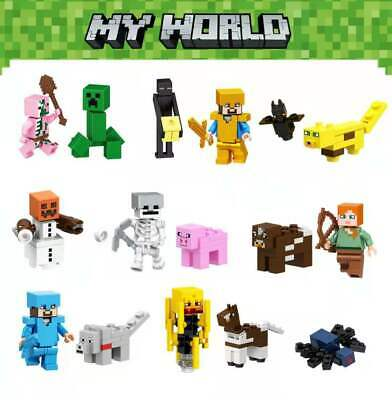 AU16.99 • Buy 16PCS My World Series Minecraft Characters Action Figures Building Blocks Toys
