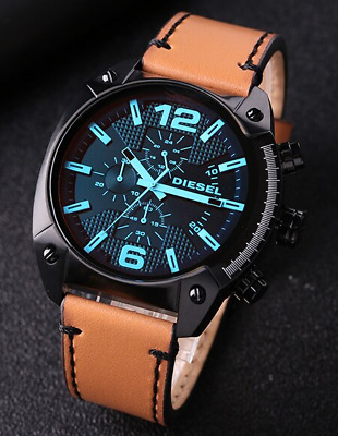 $ CDN109.30 • Buy Diesel Men's Analogue Quartz Watch With Leather Strap DZ4482 SHIPS TODAY