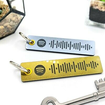 £3.99 • Buy Personal Music Key Chain With Spotify ©ode, Fathers Day Gift ANY SONG