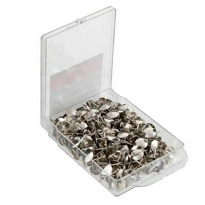 £3.99 • Buy 400 X Brass Drawing Pins Strong Metal - Silver Colour Thumb Tac BOXED (400 PACK)