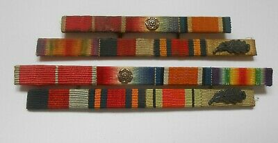 £65 • Buy 2 Metal Medal Ribbon Bars  Ww1-ww2 MBE Mons Trio  Burma Mentioned In Dispatches