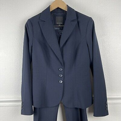 £20.98 • Buy The Limited Pant And Blazer Suit Navy Dark Blue Size 4