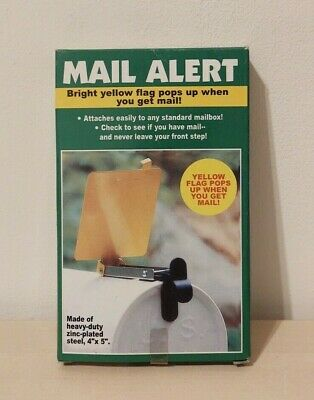 $19.85 • Buy MAIL ALERT Mail Box Yellow Signal Flag Zinc Plated Steel 4 X5  - NEW IN BOX