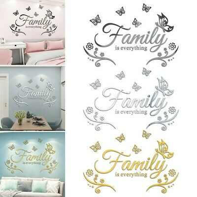 £6.97 • Buy Family Wall Stickers Art Decal Mural Acrylic Butterfly Home Kitchen Decoration