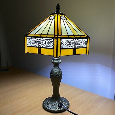 £64.12 • Buy Tiffany Style Table Lamp Stained Glass Handcrafted Bedside Light Desk Lamps UK