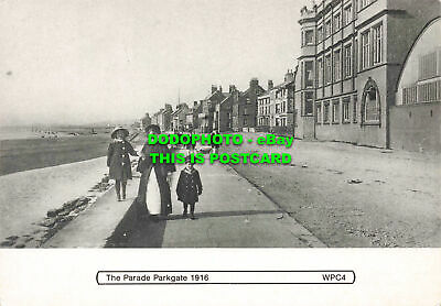 £5.75 • Buy L146358 Parade Parkgate. 1916. WPC4. Walking Sea Wall With Nanny At Parkgate 191