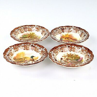 £20 • Buy Royal Worcester Palissy Game Series, 4 X Rim Bowls, 6.25 Inches