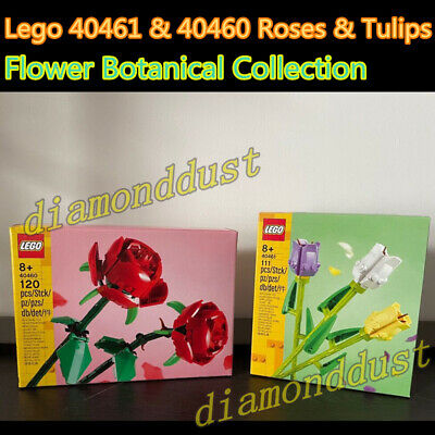 AU78.99 • Buy Lego 40461 & 40460 Roses Tulips Flower Bouquet Botanical Collection Kid Toy Gift