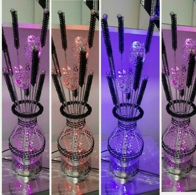 £48.99 • Buy Aluminium Metal Silver Flower Vase Style Table Floor Colour Changing Lamp