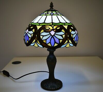 £64.11 • Buy Tiffany Style Table Lamp Stained Glass Handcrafted Bedside Light Desk Lamps UK
