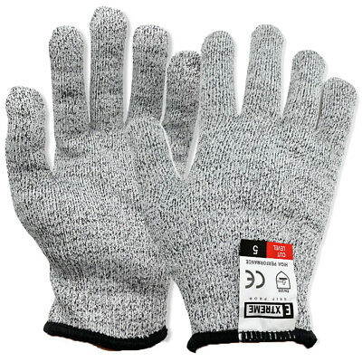 £3.49 • Buy Level 5 Cut Protection Safety Gloves Anti Cut Resistant Hand Protection Gloves