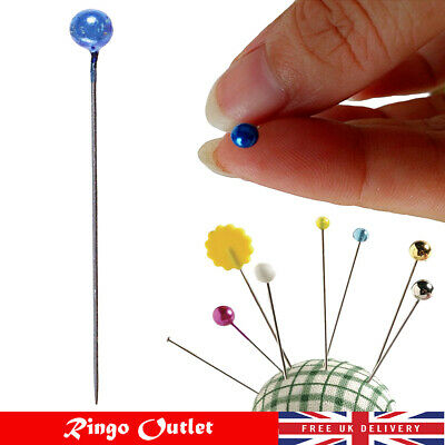 £1.49 • Buy Dressmaking Pins Fine Glass Head Tailors Pearl Quilting Sewing Craft Assorted UK