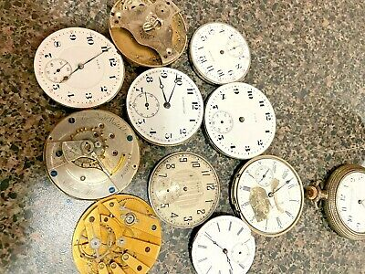 $ CDN12.13 • Buy Pocket Watch Movement Lot 10 Pieces 33-43 Mm Some Better Than Others Nice Lot