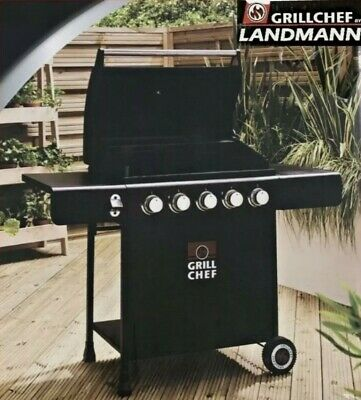 £289.80 • Buy LandMann Grill Chef 5 Burner Gas BBQ + Cover 🔥 Garden BBQ New Fast Delivery ✅🚚