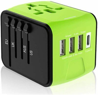 AU28.99 • Buy Travel Adapter-Universal International Power Adapter With 3USB Port And Type-C I