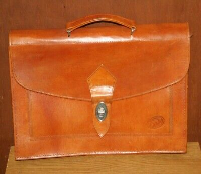 £12 • Buy Tan Leather Briefcase / Work Bag